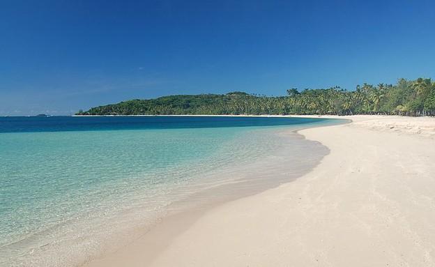 החוף בו צילמו את הלגונה הכחולה, פיג'י (צילום: Msdstefan at de.wikipedia)