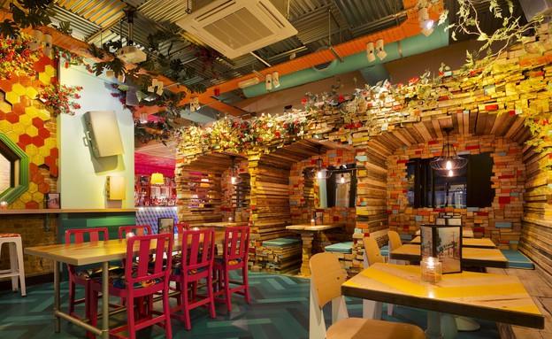 מסעדה לונדון, פנים (צילום: DTWO Design)