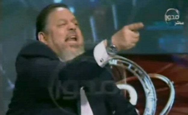 צפו: עימות בטלוויזיה המצרית (צילום: הטלוויזיה המצרית)