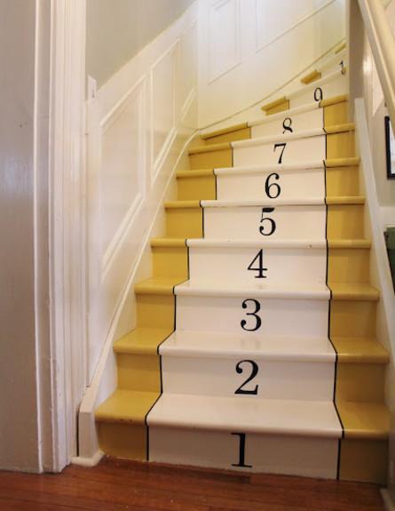 שדרוג מדרגות, מספרים גובה (צילום: www.theironstonenest.com)