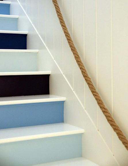 שדרוג מדרגות, כחול לבן שחור (צילום: han Adler)
