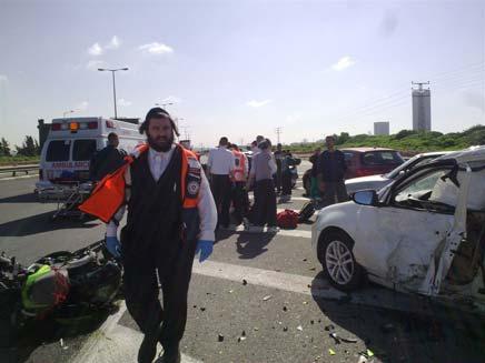 זירת התאונה (צילום: חדשות 24)