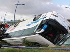 תאונת אוטובוס. ארכיון (צילום: סוכנות הידיעות מען)
