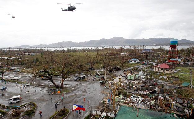 אזור האסון לאחר הסופה (צילום: רויטרס)