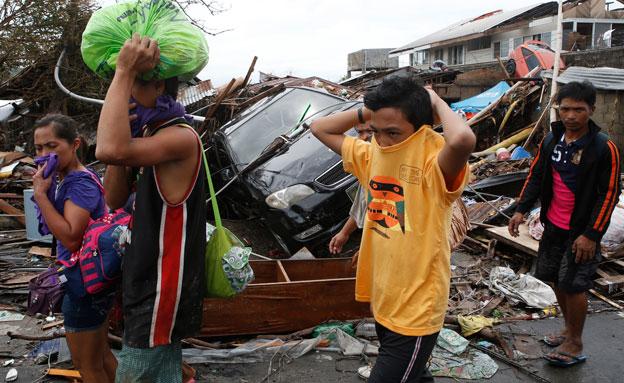 טייפון, פיליפינים (צילום: חדשות 2)