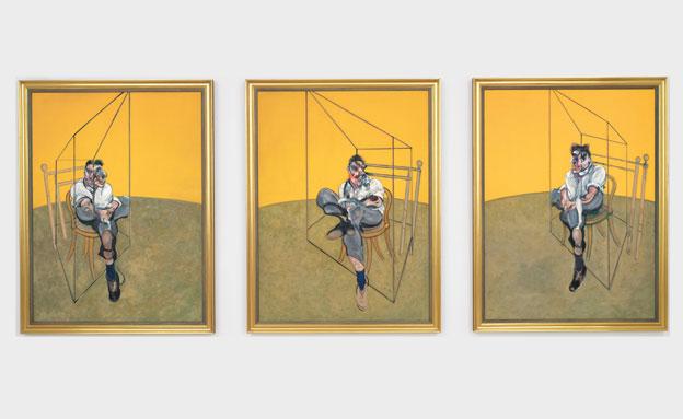 """""""שלושה מחקרים של לוסיאן פרויד"""" (צילום: AP)"""