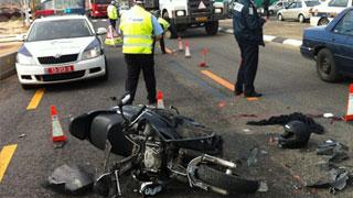 """תאונת אופנוע קטלנית. אילוסטרציה (צילום: נחמן טובול - סוכנות הידיעות """"חדשות 24"""")"""