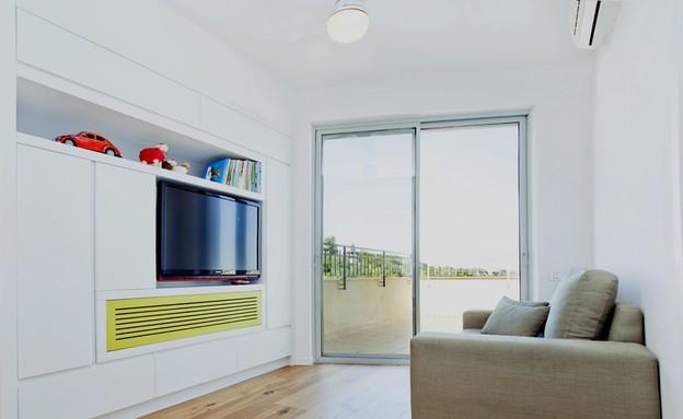 קומת ילדים, פינת טלוויזיה חדר (צילום: שרון קנה)