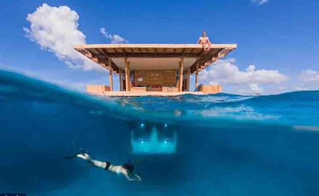 חדר מתחת למים (צילום: www.dailymail.co.uk)