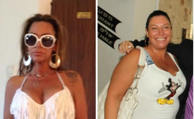 יפית שי לפני ואחרי (צילום: תומר ושחר צלמים, צילום ביתי)