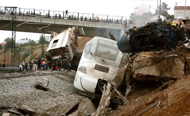 תאונת רכבת קשה. ארכיון (צילום: AP)