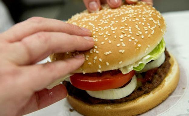 המבורגר (צילום: חדשות 2)