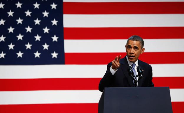 """נשיא ארה""""ב אובמה, אמש"""