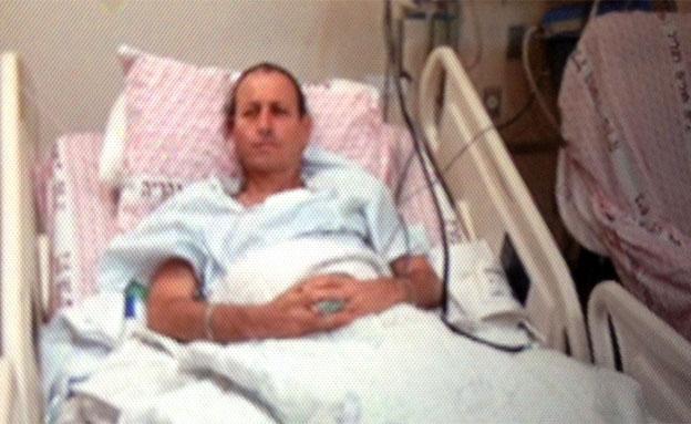 """לנקרי בביה""""ח לאחר הירי (צילום: חדשות 2)"""