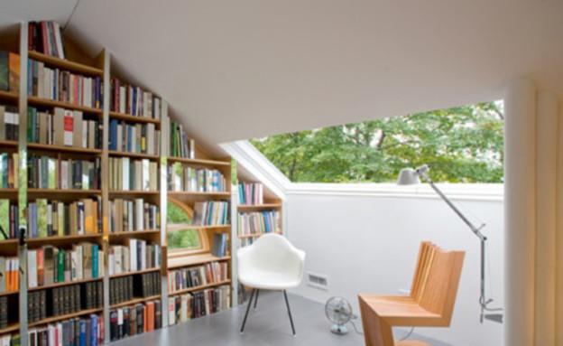 עליית גג, כסאות (צילום: www.houzz.com)