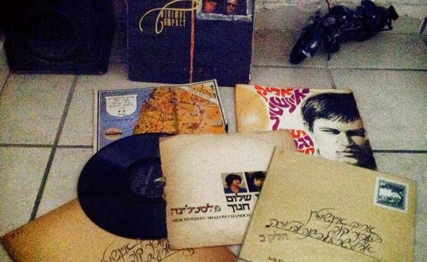 התקליטים הישנים (צילום: עופר גולן, צילום ביתי)