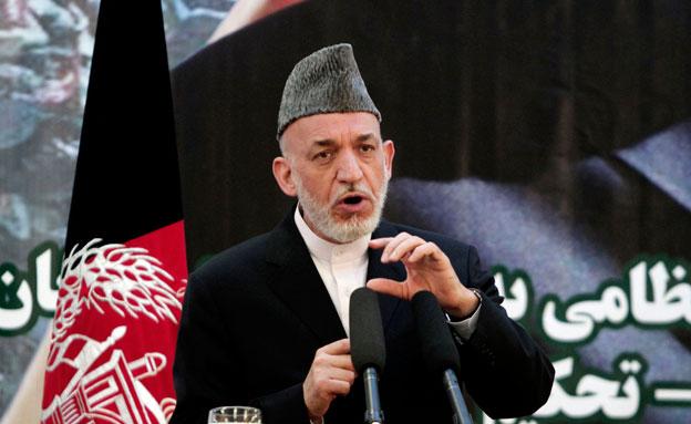 חמיד קרזאי, נשיא אפגניסטן (צילום: AP)
