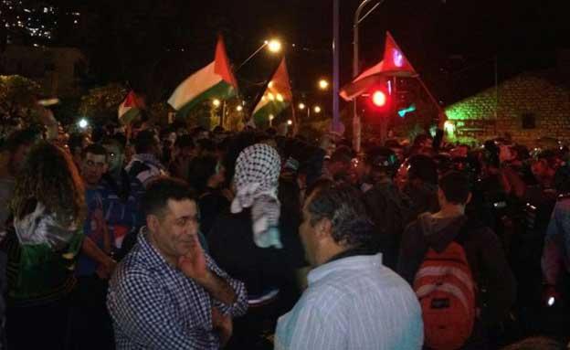 הפגנה בחיפה (צילום: חדשות 2)