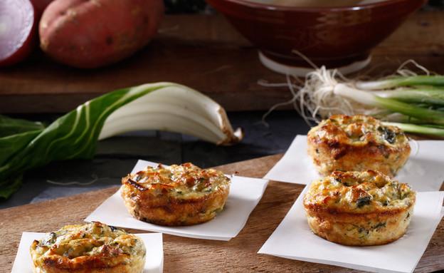 מאפינס קישואים ומנגולד (צילום: אפיק גבאי, אוכל טוב)