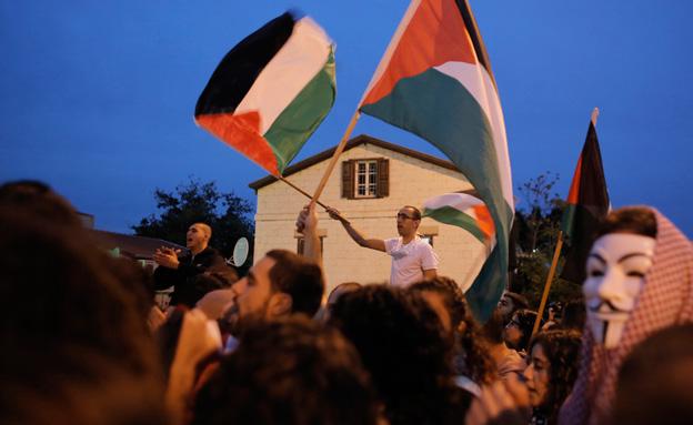 ההפגנות אתמול (צילום: רויטרס)