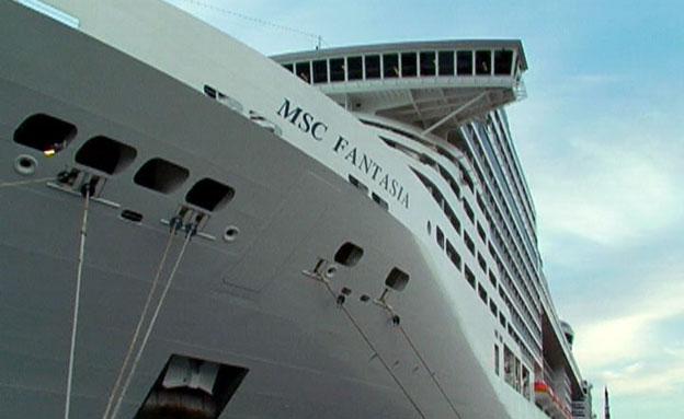 האונייה הגדולה בעולם-בדרך לישראל (צילום: חדשות 2)