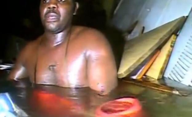 צוללן הציל טובע (צילום: youtube.com)
