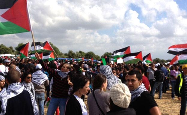 תהלוכה ביום הנכבה, ארכיון (צילום: פוראת נאסר, חדשות 2)