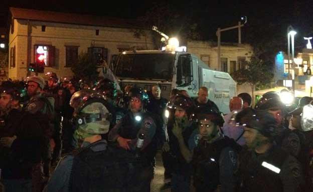 עימותים בחיפה (צילום: פוראת נסאר)