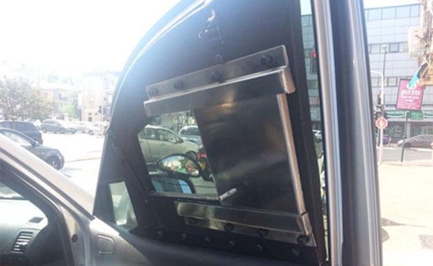 המכונית שנתפסה, היום (צילום: דוברות משטרת ישראל)
