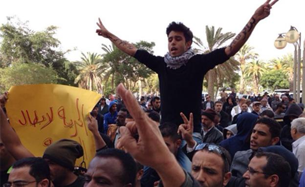 מאות הפגינו בבאר שבע (צילום: חדשות 2)