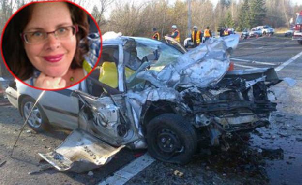 הרכב אחרי התאונה (צילום: THE WASHINGTON STATE PATROL)