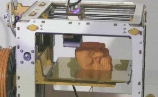 מדפסות התלת מימד ידפיסו גם אוכל? (צילום: חדשות 2)