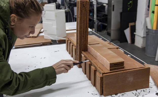 אדריכלות משוקולד, וופלים (צילום: Hargreaves and Caitlin Levin)