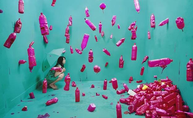 הפכה את החדר לגלריה (צילום: boredpanda.com)