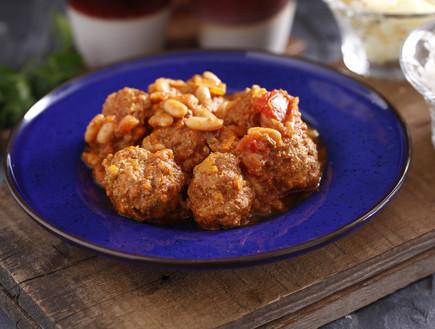 תבשיל שעועית חריף וקציצות בקר עם בטטה (צילום: אפיק גבאי, אוכל טוב)