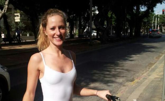 עם אופניים ברוטשילד, התיירת לורי