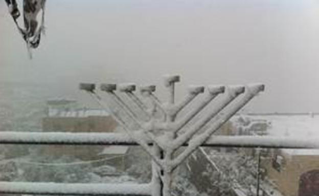 שלג בבית לחם (צילום: איתן אביטל)