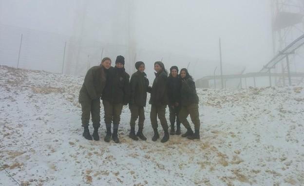 שלג בהר חריף (צילום: שלי ששון)