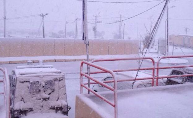 """שלג בחטמ""""ר יהודה (צילום: אלינור שמואל)"""