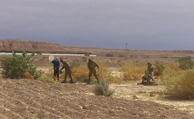 חילוץ אזרחים 2 (צילום: באדיבות גרעיני החיילים)