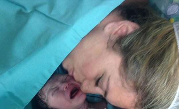 ליהיא גרינר בחדר הלידה