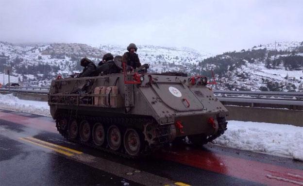 טנק בשלג (צילום: חדשות 2)