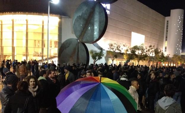 הפגנה למען שוויון הקהילה הגאה (צילום: רועי יולדוס רוזנצוייג)