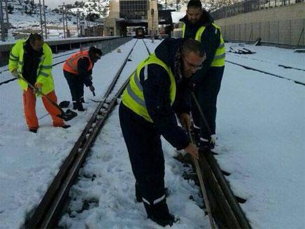 מכינים את המסילה ליציאת רכבות