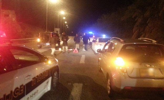 ירי לעבר רכב צבאי, ראש הנקרה (צילום: חדשות 2)