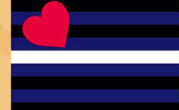 דגל הגאווה - leather pride