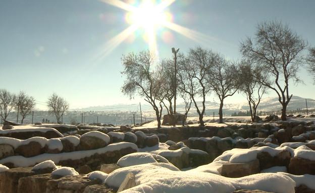 שלג בחבל בנימין (צילום: אבי זנגי)