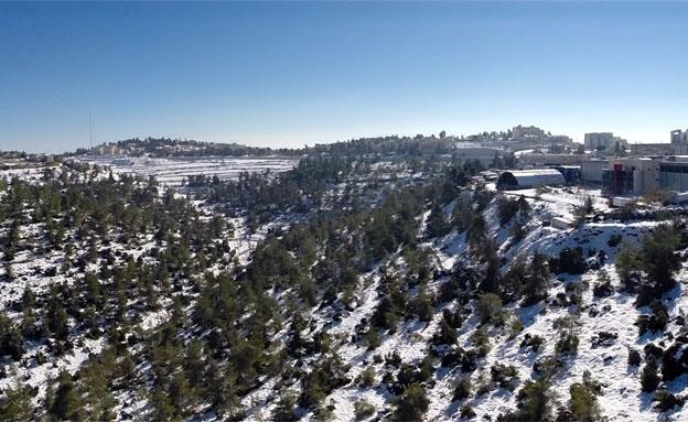 השלג מתחיל להפשיר, היום (צילום: חגי הקר, חדשות 2)