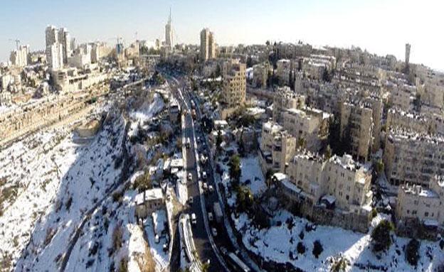 שלג, ירושלים (צילום: חדשות 2)
