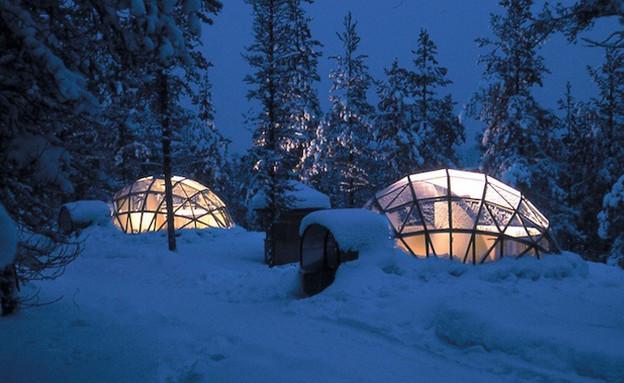 מלון איגלו, מלונות בסקנדינביה (צילום: aandbctheworld.com)